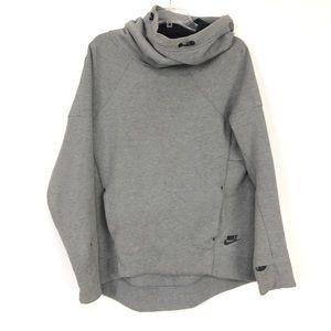 Nike Men Tech Fleece Funnel Neck Sweatshirt Gray